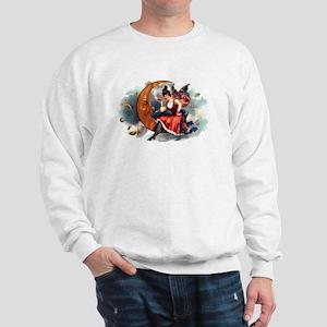 Butterfly Lady on Moon Sweatshirt