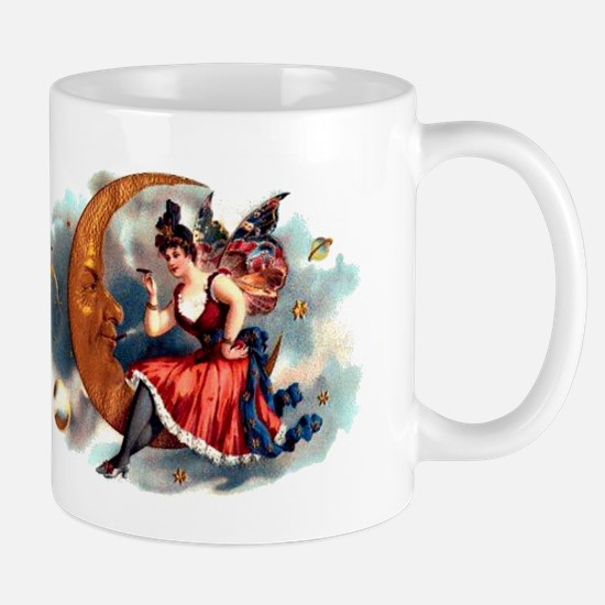 Butterfly Lady on Moon Mug