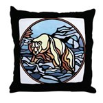 Polar Bear Art Throw Pillow Wildlife Painting