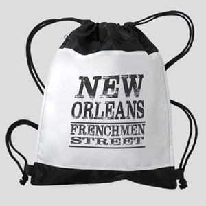 NEW ORLEANS FRENCHMEN STREET Drawstring Bag