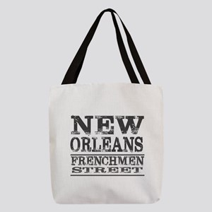 NEW ORLEANS FRENCHMEN STREET Polyester Tote Bag