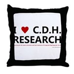 I Love C.D.H. Research Throw Pillow
