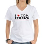 I Love C.D.H. Research Women's V-Neck T-Shirt