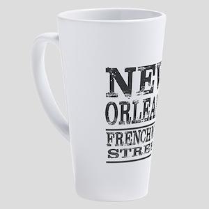 NEW ORLEANS FRENCHMEN STREET 17 oz Latte Mug