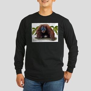 Sumatran Orangutan Long Sleeve Dark T-Shirt