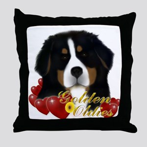 MadDog's Oldies Hearts Throw Pillow