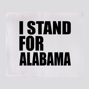 I Stand For Alabama Throw Blanket