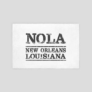 NOLA New Orleans Vintage 4' x 6' Rug