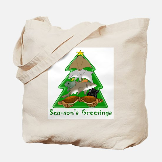 Sea-son's Greetings Tote Bag