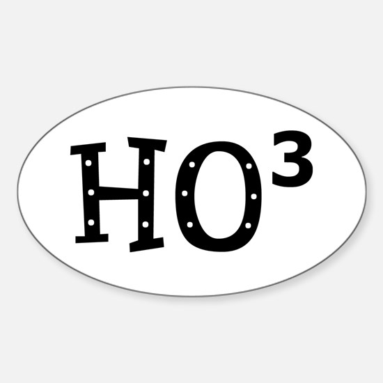 Ho Cubed Sticker (Oval)