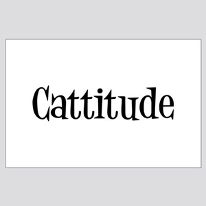 Cattitude Large Poster