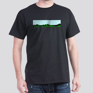 Green Wooded Foreground With A Blue Sky T-Shirt