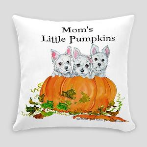 Westie Pumpkin Puppy Everyday Pillow