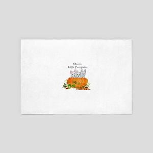 Westie Pumpkin Puppy 4' x 6' Rug