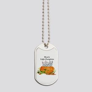 Westie Pumpkin Puppy Dog Tags