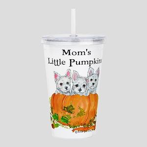 Westie Pumpkin Puppy Acrylic Double-wall Tumbler