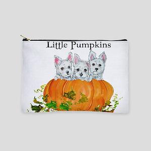 Westie Pumpkin Puppy Makeup Bag