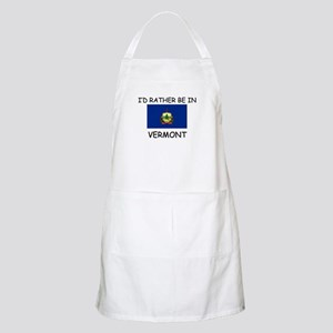 I'd rather be in Vermont BBQ Apron