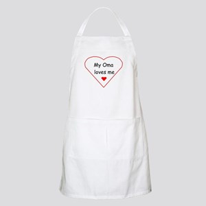 My Oma Loves Me BBQ Apron