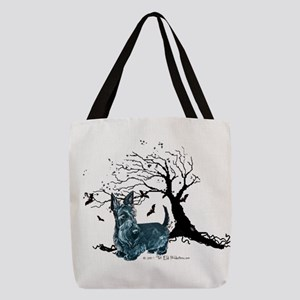 tree two png Polyester Tote Bag