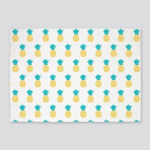 Cute Pineapples Pattern 5'x7'Area Rug