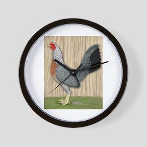 Grey Game Hen Wall Clock
