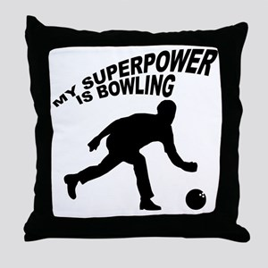 My Superpower is Bowling Throw Pillow