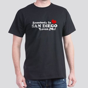 Somebody In San Diego Loves Me Dark T-Shirt