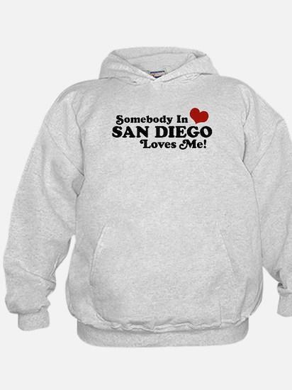 Somebody In San Diego Loves Me Hoodie