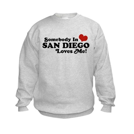 Somebody In San Diego Loves Me Kids Sweatshirt