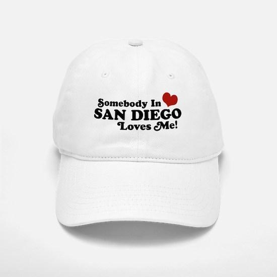 Somebody In San Diego Loves Me Baseball Baseball Cap