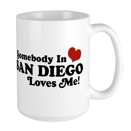 Somebody In San Diego Loves Me Large Mug