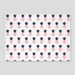 Cute Pineapples Pattern 5'x7'Area Rug