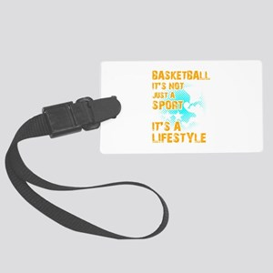 Basketball Sports Player Its Not Large Luggage Tag