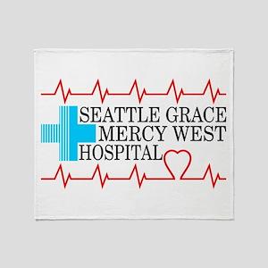 Seattle Grace Mercy West Hospital Throw Blanket
