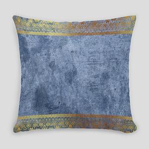 Blue Golden Egypt Everyday Pillow