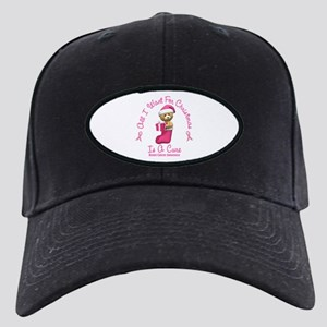 Bear In Stocking 2 (Breast Cancer) Black Cap