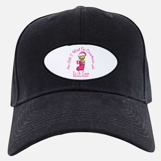 Bear In Stocking 2 (Breast Cancer) Baseball Hat