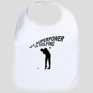 My Superpower is Golfing Bib