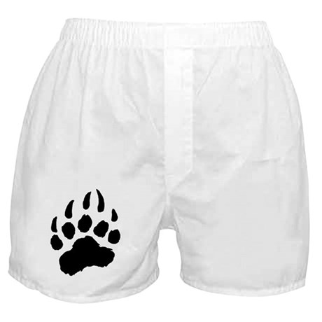 BLACK Bear Paw Boxer Shorts