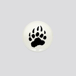 BLACK Bear Paw Mini Button