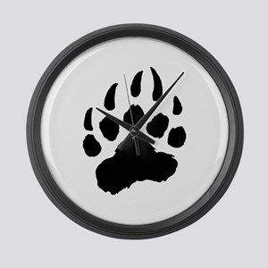 BLACK Bear Paw Large Wall Clock