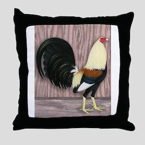 Grey Gamecock Throw Pillow