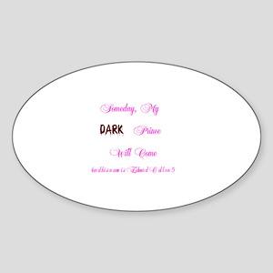 Dark Prince Edward Oval Sticker