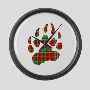 PLAID Bear Paw Large Wall Clock