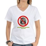 Columbus Not a Hero Women's V-Neck T-Shirt