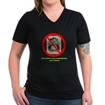 Columbus Not A Hero Women's V-Neck Dark T-Shir