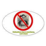 Columbus Not a Hero Sticker (Oval)