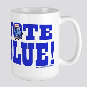 Vote Blue Dem Dog Large Mug