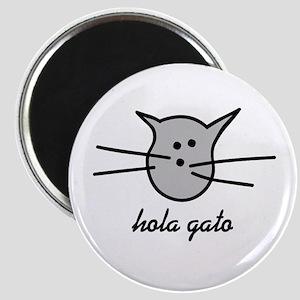 Hola Gato! Gray Kitty Magnet